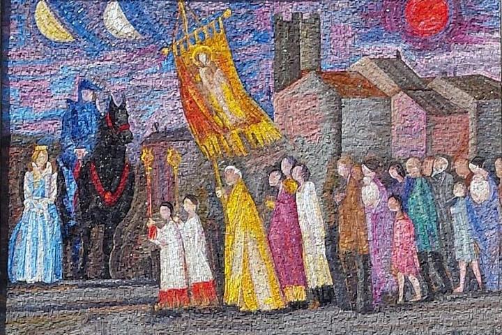 La processione per il santo patrono