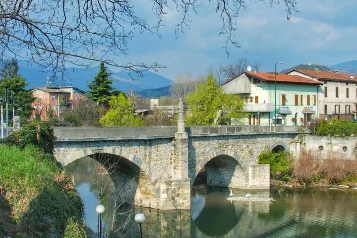 il fiume Serio e il Ponte di Gorle