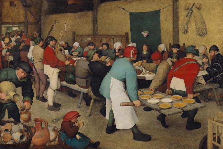 banchetto nuziale di Pieter Bruegel