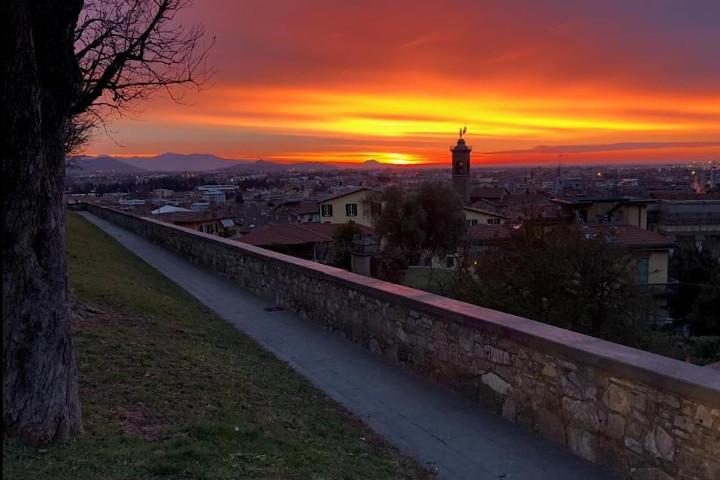 Alba in Città Alta del fotografo Sergio Cortinovis