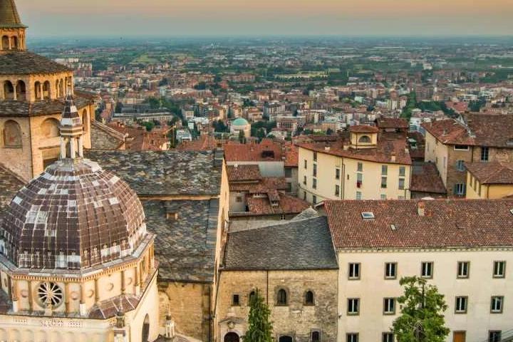 Vista dal campanone di Bergamo Alta