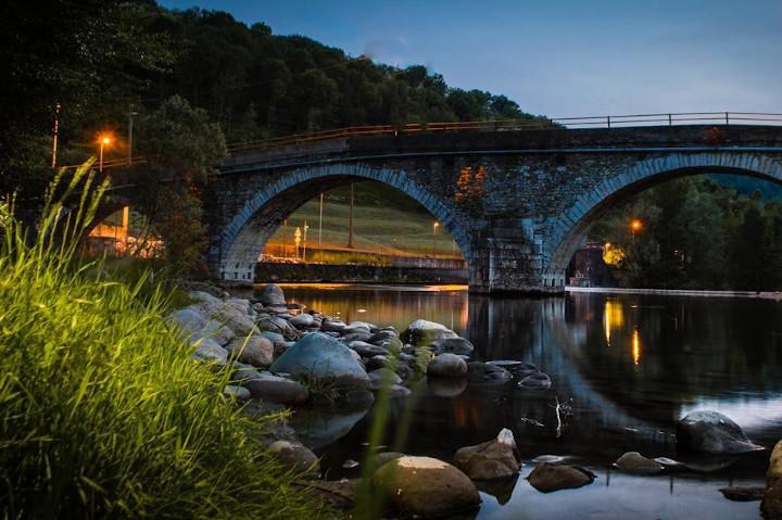 Ponte sul fiume Serio a Nembro di Samanta Biava