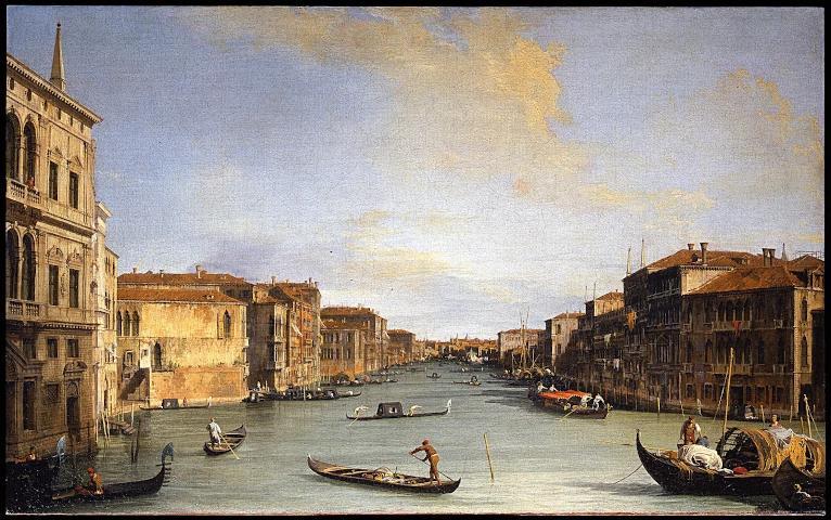 Canaletto Il Canal Grande da palazzo Balbi