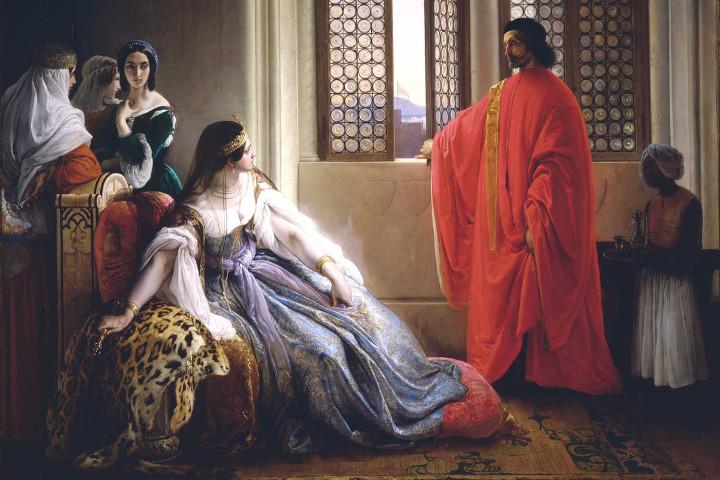 Caterina Cornaro riceve l'annuncio della sua deposizione dal Regno di Cipro