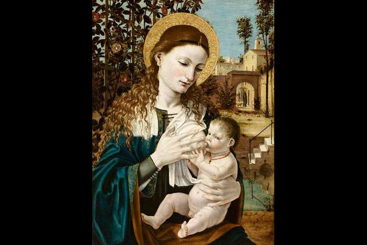 Madonna del latte di Bernardino Bergognone, Accademia Carrara Pinacoteca