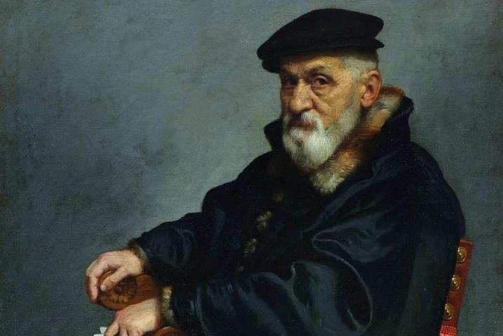 Ritratto di vecchio seduto di Giovan Battista Moroni